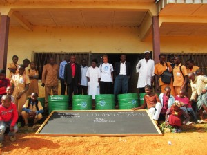 In 2013, we donated 6 Brash Boxes and 6 Blackboards to Two school in Bangoua With the help of Linda from germany and Hope Foundation