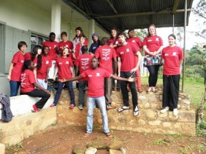 "Team of Project Madiba Cameroon 2011. It was called ""Summer project Cameroon""."