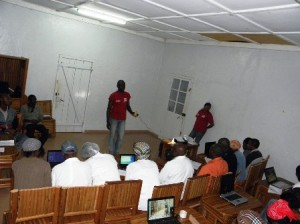 IT Training for Community Leaders in Bangoua in 2011