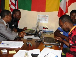 Webmaster training at our office in Bafoussam in 2013.